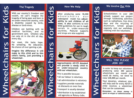 Wheelchairs For Kids brochure inside
