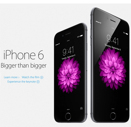 Apple iPhone 6 announcement front