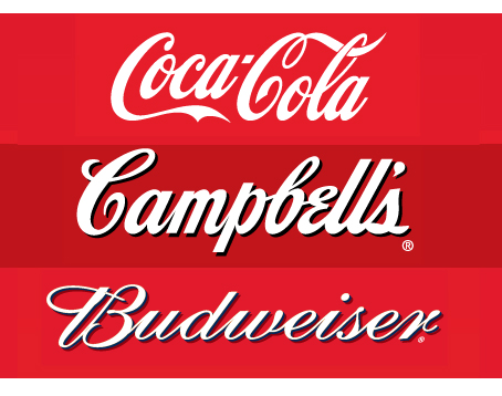 Separated at Birth? Coca-Cola Campbells Bud logos