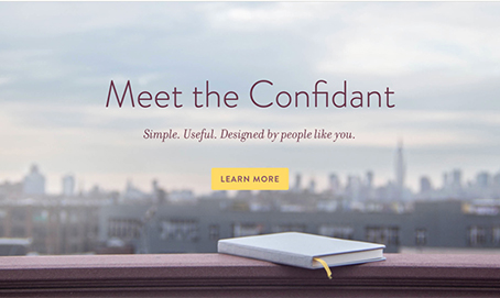 Confidant Screen at Baron Fig Web site