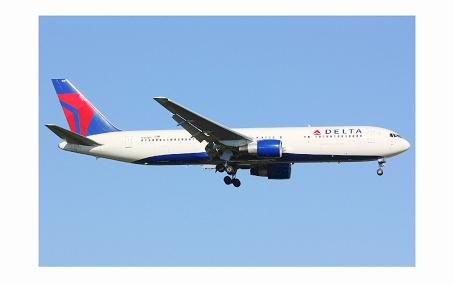 Delta logo on plane