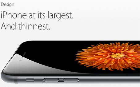 Apple iPhone 6 announcement thinnest.
