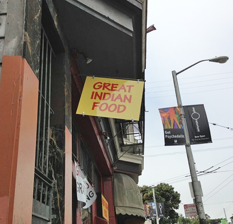 Great Indian Food Sign