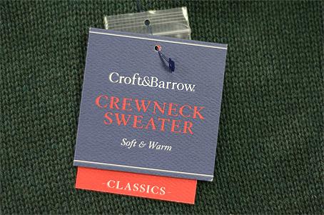 Kohl's Croft & Barrow hang tag