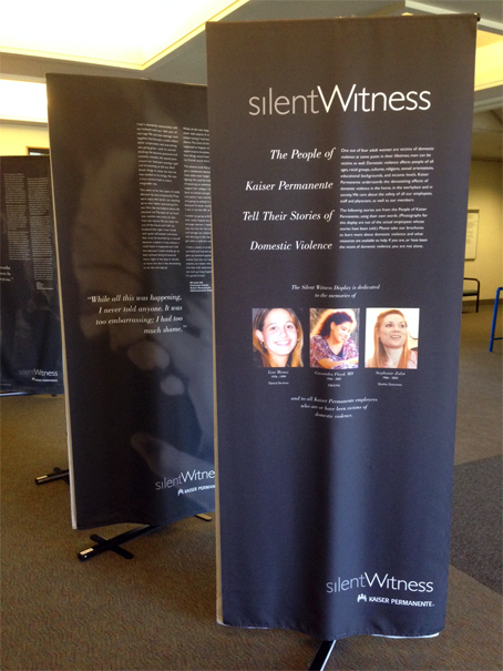 Silent Witness banners Kaiser Permanente, CA
