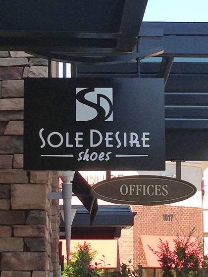 Sole Desire signage at the mall