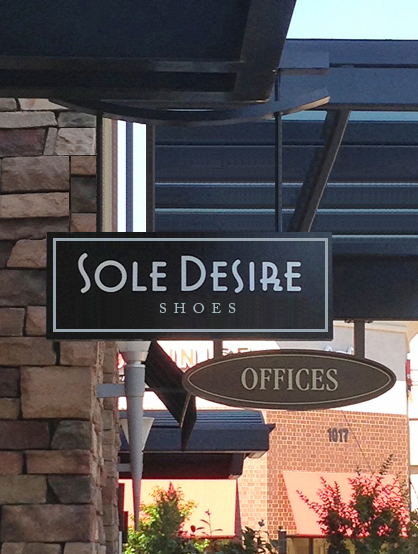 Sole Desire mod signage at the mall