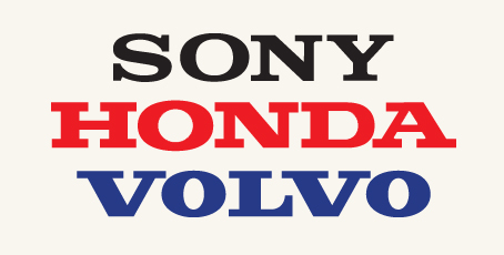 Separated at Birth? Sony Honda Volvo logos