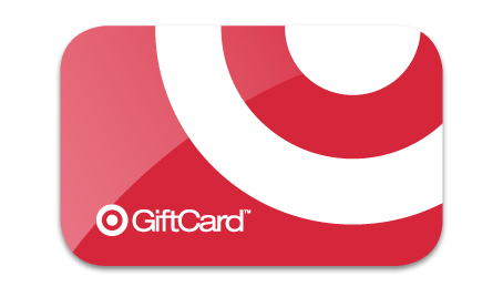 Target logo on a gift card