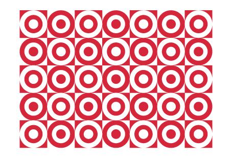 Target logo pattern