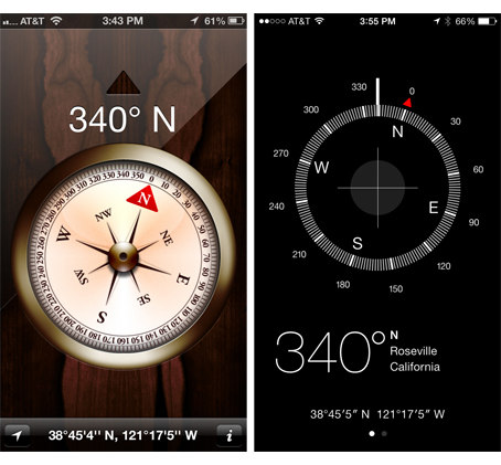DesignTalk: Flat is cool two compasses