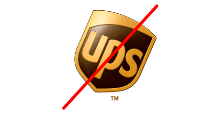 UPS logo standards do not rotate