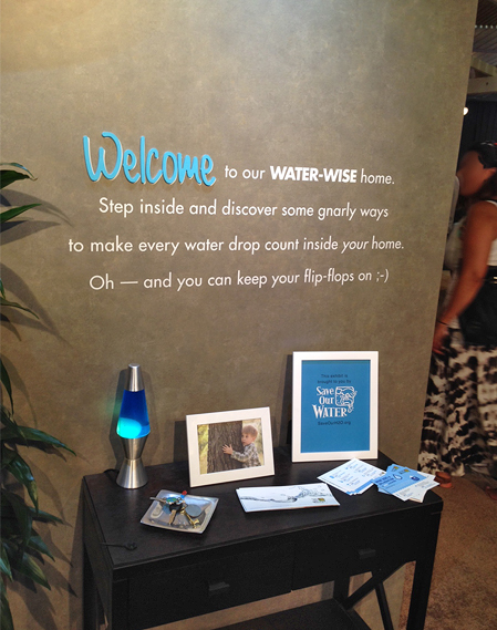 Water-Wise display from CA State Fair